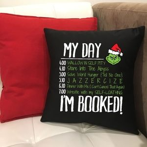 NWT Handmade 16 Inch Grinch Pillow Cover